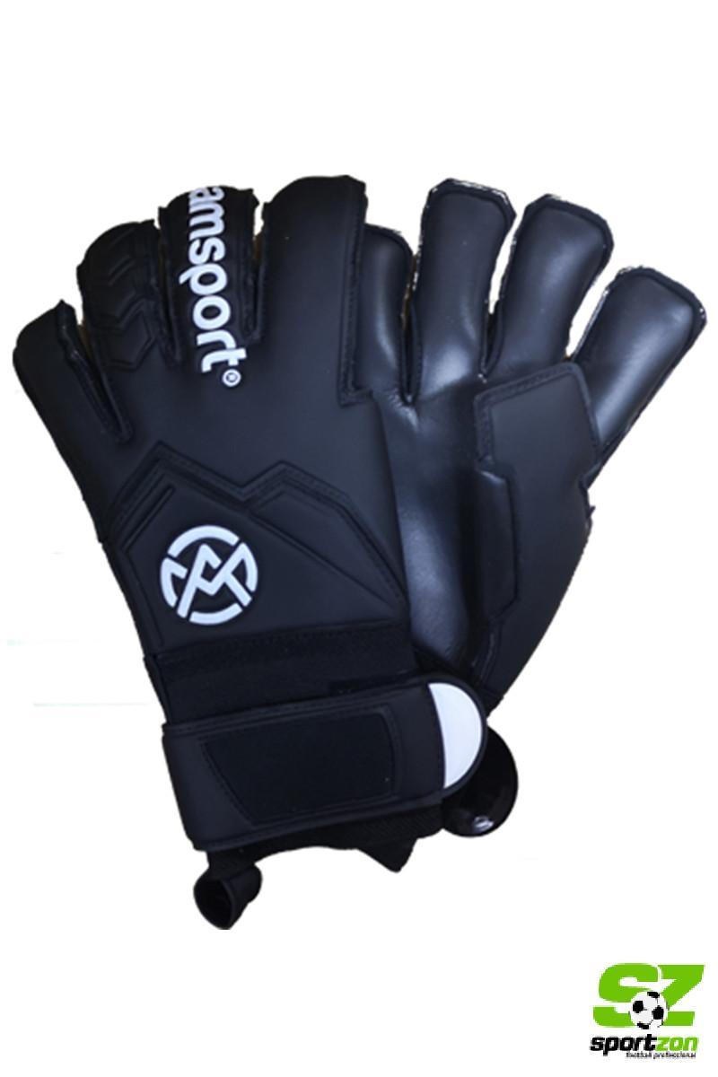 Amsport golmanske rukavice CRNA